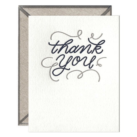 Thank You | Letterpress Card