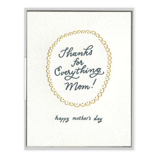 Thanks for Everything, Mom! | Letterpress Card