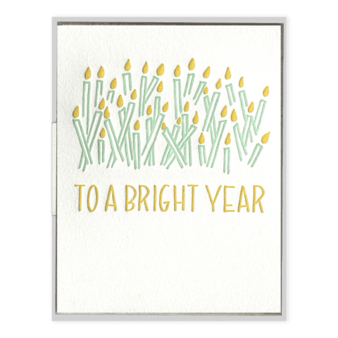 To A Bright Year! | Letterpress Card