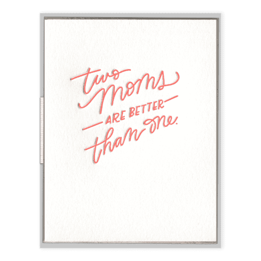 Two Moms | Letterpress Card