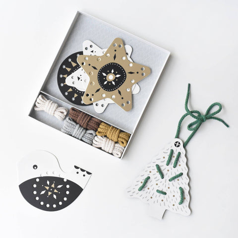 Festive Fun Lacing Ornaments • Wee Gallery