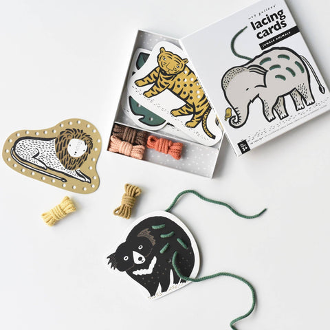 Lacing Cards • Jungle Animals • Wee Gallery