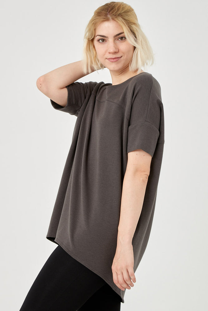 Slouchy Short Sleeve Tunic