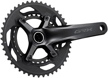 QBP Shimano GRX FC-RX600-10 Crankset - 175mm, 10-Speed, 46/30t, 110/80 BCD, Hollowtech II Spindle Interface