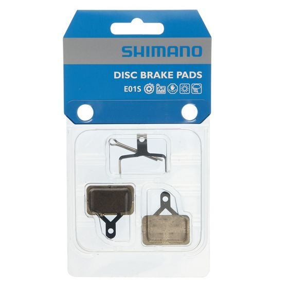 Shimano E01S Metal Disc Brake Pads And Spring For Deore Br-M575, Br- M486, Br-M485, Br-M446, Br-M445 Calipers