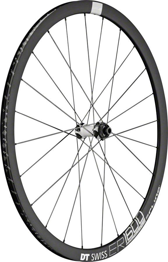 Dt Swiss Er 1600 Spline 32 Front Wheel - 700 12/15/Qr X 100Mm 6-Bolt/Center-Lock Black