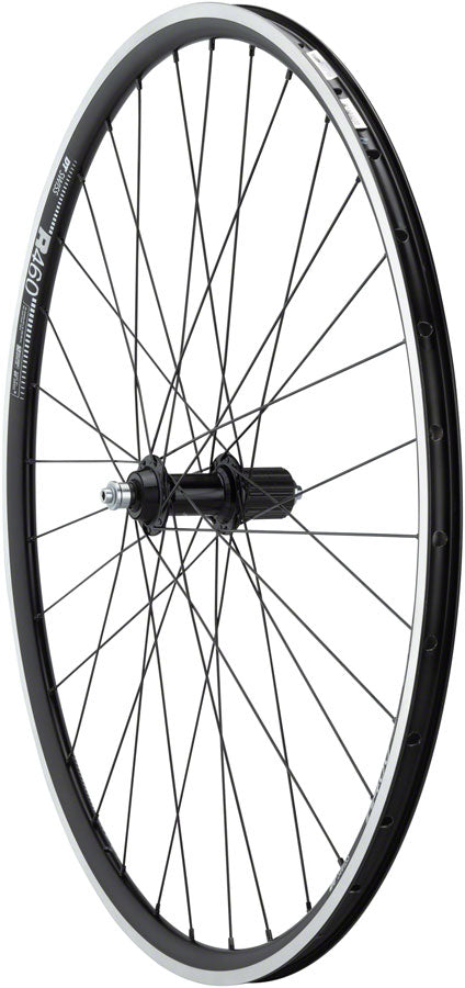 Quality Wheels 105/R460 Rear Wheel - 700, QR x 130mm, Rim Brake, HG 11, Black, Clincher