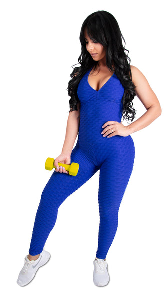 Royal Blue Brazilian Jumpsuit Scrunchy Supplex