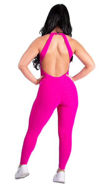 Fucsia Brazilian Jumpsuit Scrunchy Supplex