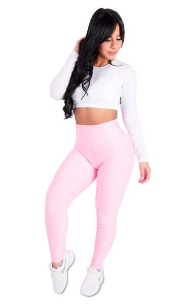 Pink Scrunchy Supplex Leggings