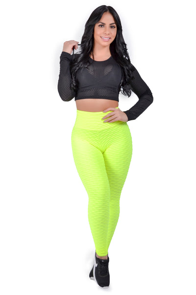Neon Yellow Scrunchy Supplex High Waist Legging