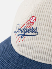 Dodgers New Era Corduroy Snapback White/Navy