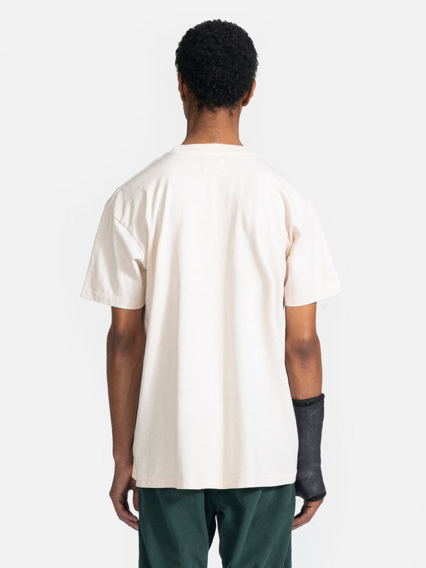 Loose Knit Pocket Tee Natural