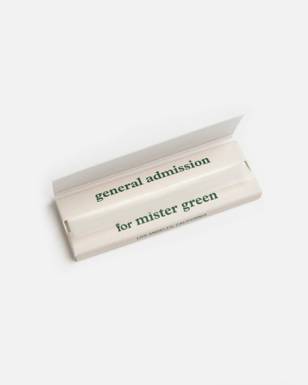 General Admission x Mister Green Rolling Papers