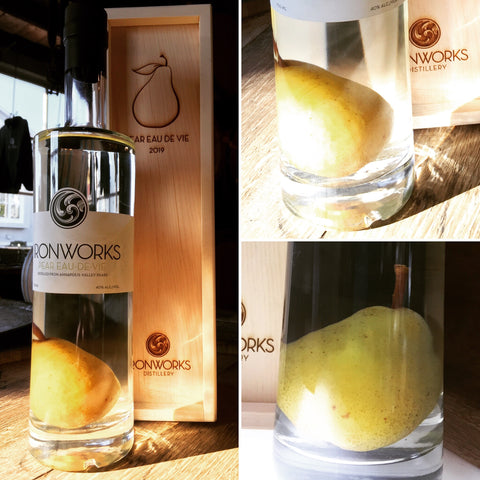 Ironworks Pear Eau de Vie, Pear in Bottle 750 ml