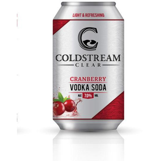 Coldstream Clear Cranberry Vodka Soda 6 pack cans