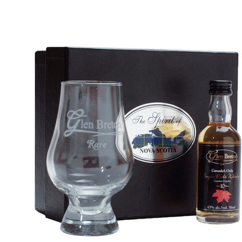 Glen Breton Gift Box 10 Year Rare & Whisky Glass