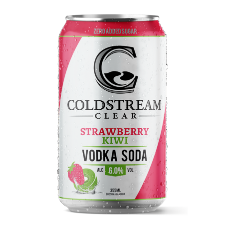 Coldstream Clear Strawberry Kiwi Vodka Soda 6 pack cans