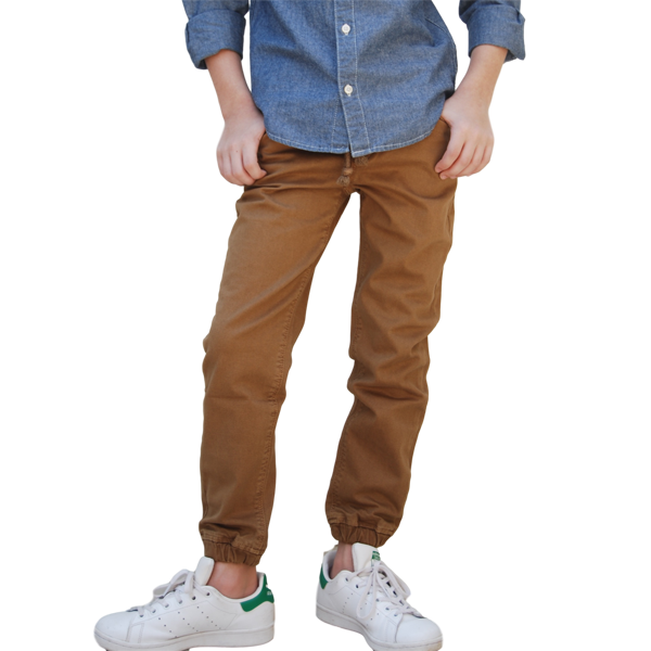 Pantalon Drill Jogger Color Camel