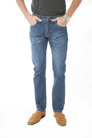 Pantalon Jeans Slim Fit Azul Cod: 201-2009