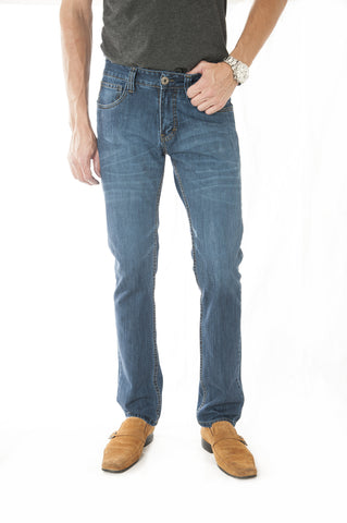 Pantalon Jeans Slim Fit Azul Cod: 201-2010