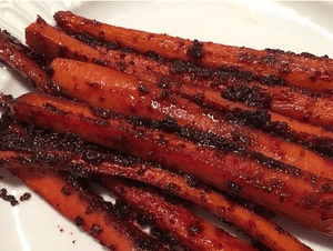 Glazed Carrots With Ginger and Three-Beet Powder