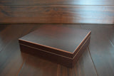 Initial Monogram Cigar Humidor Groomsmen Wood Box Engraved Monogram Personalized