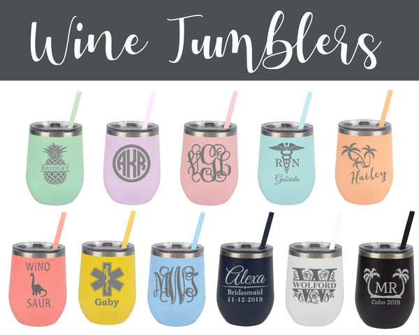 Personalized Stemless Wine Tumblers