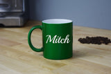 Engraved Etched Green Coffee Mug - Personalized Custom Customized