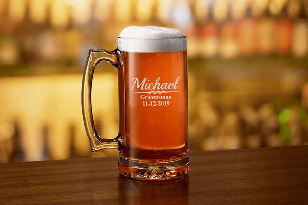 Custom Engraved Groomsmen Beer Mug