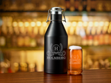 Custom Beer Growler - Personalized Beer Growler - Beer Growler with matching glass