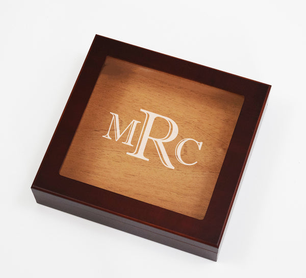 Custom Monogram Cigar Box Humidor Cedar