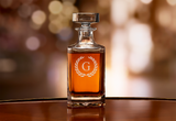 Custom engraved whiskey decanter initial