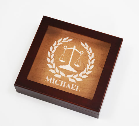 Custom Lawyer Cigar Box Humidor Spanish Cedar