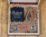 Wood Comb Groomsmen Gift Box Set