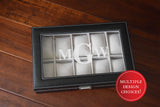 Custom Engraved Glass Top Watch Box - Personalized Watch Storage - Watch Case Groomsmen Gifts Fathers Day