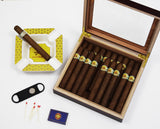 Nautical Cigar Gift - Boating Gift - Personalized Nautical Cigar Humidor Box Cigar Aficionado