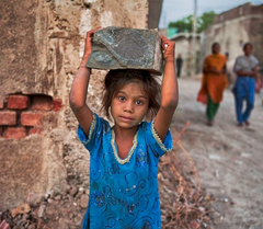India girl child labor