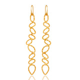 22ct Gold Plated Sterling Silver hammered earrings - Sumana
