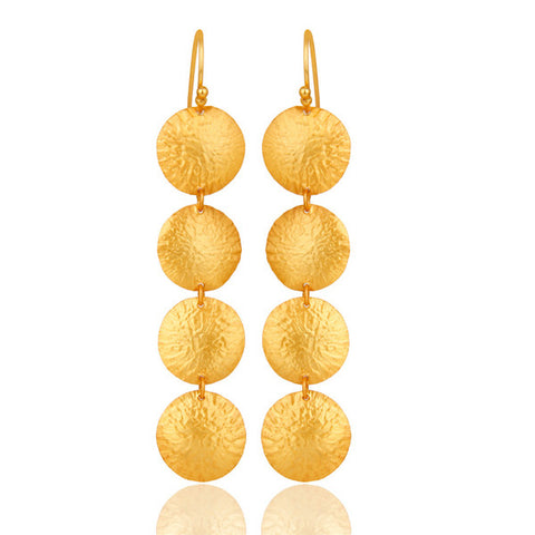 Sterling Silver 18K Gold hammered earrings