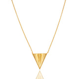 14K Gold Vermeil Sterling Silver Triangle Pendant with Chain - Sumana