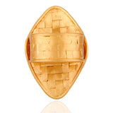 Handmade 925 Sterling Silver Woven Ring With 24k Gold Vermeil - Sumana
