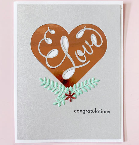 Congradulations Handcrafted Card