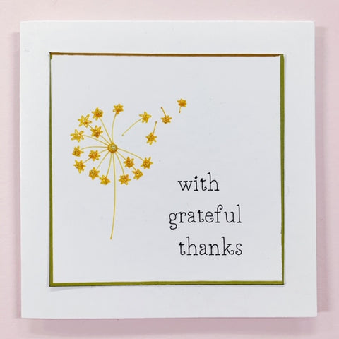 With Grateful Thanks Handcrafted Card