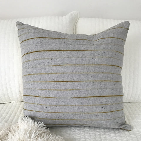Hand-Dyed Pillow - Gold Stripe
