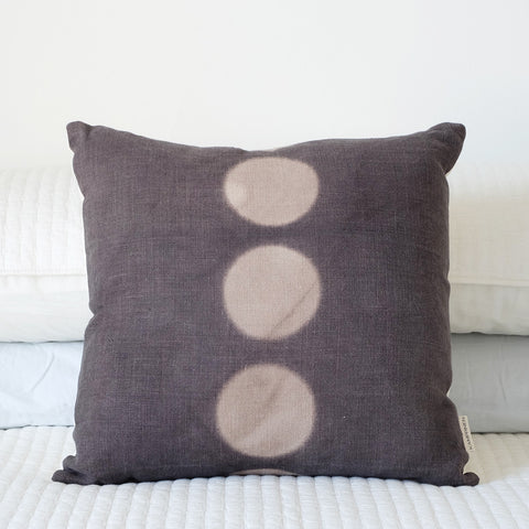 Hand-Dyed Pillow Cover - Black+Walnut