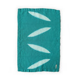 Leaf Hand Towel - Jade Blue