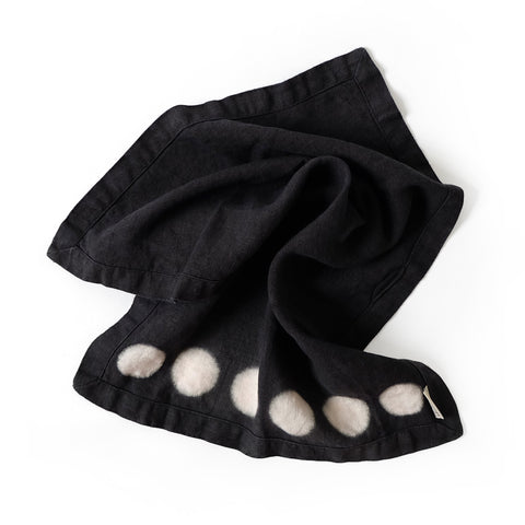 Moon Hand Towel - Basalt