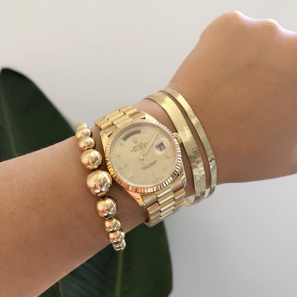 GOLDEN BUBBLE CUFFS
