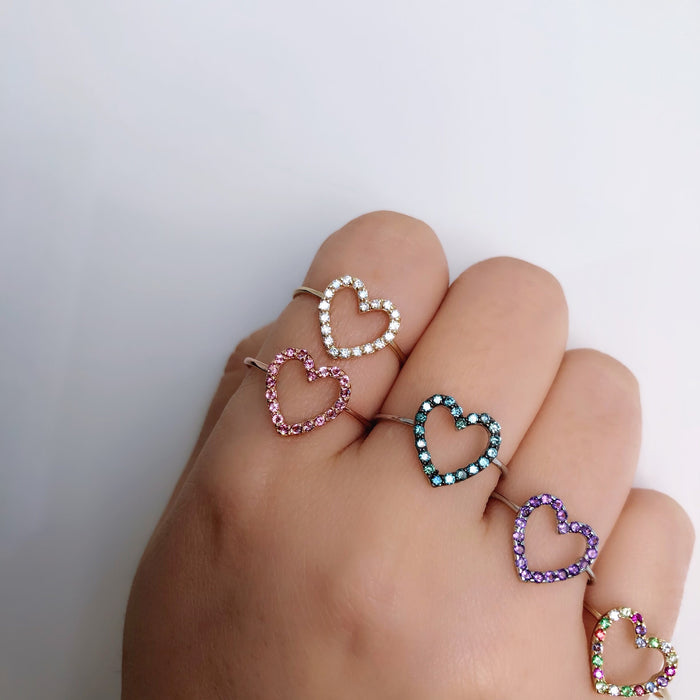 14K CANDY GEM HEARTS